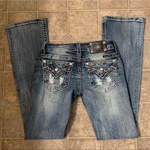 MissMe Bootcut Distressed Pocket Jeans Size 25x33